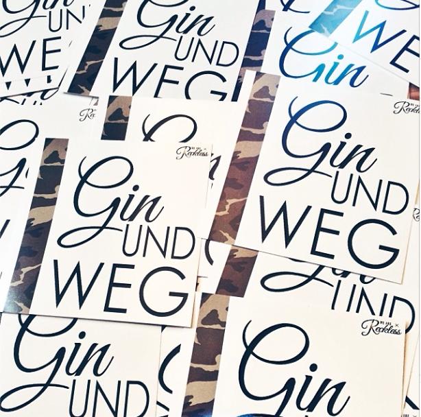 WE ARE RECKLESS_ Gin und weg