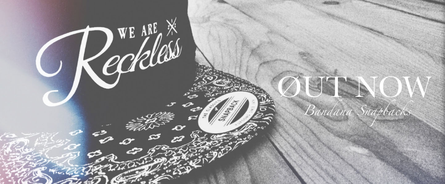 WE ARE RECKLESS BANDANA SNAPBACK